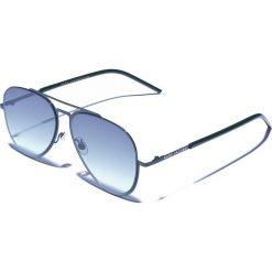 Okulary przeciwsłoneczne męskie aviatory: Okulary męskie w kolorze ciemnozielonym