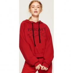 Bluza hoodie - Czerwony. Czerwone bluzy damskie Sinsay, l. Za 49,99 zł.