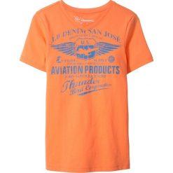 Odzież dziecięca: T-shirt z dekoltem w serek Slim Fit bonprix nektarynka z nadrukiem