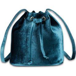 Torebka aksamitna bonprix niebieskozielony. Niebieskie torebki worki bonprix. Za 69,99 zł.
