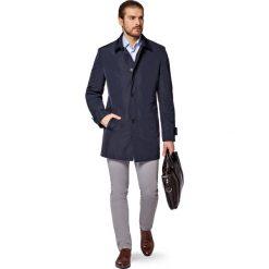 Płaszcz Granatowy Avoliano. Niebieskie płaszcze na zamek męskie marki LANCERTO, na wiosnę, m, z jeansu, biznesowe. W wyprzedaży za 399,90 zł.