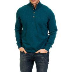 Golfy męskie: Sweter w kolorze morskim