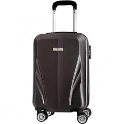 Walizka w kolorze szarym - 34 l. Szare walizki marki Platinium, z materiału. W wyprzedaży za 179,95 zł.