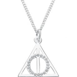 Harry Potter Deathly Hallows Naszyjnik srebrny. Szare naszyjniki damskie marki Harry Potter, srebrne. Za 324,90 zł.