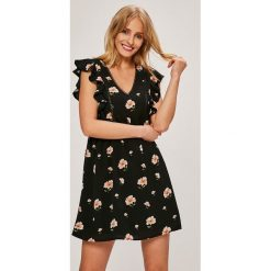 Answear - Sukienka. Szare sukienki mini ANSWEAR, na co dzień, l, z poliesteru, casualowe, z krótkim rękawem, rozkloszowane. W wyprzedaży za 99,90 zł.