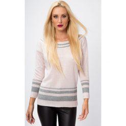 Sweter z wiązaniem z tyłu jasnoróżowy S13. Czerwone swetry klasyczne damskie Fasardi, s. Za 59,00 zł.