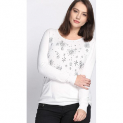 Biały Sweter Purpose. Czarne swetry klasyczne damskie marki Born2be, na jesień, l. Za 49,99 zł.