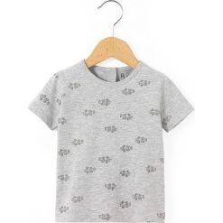 Odzież chłopięca: Koszulka z okrągłym dekoltem, nadrukiem i krótkim rękawem