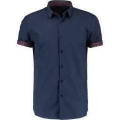Koszule męskie na spinki: Topman TILE TURNUP  Koszula blue