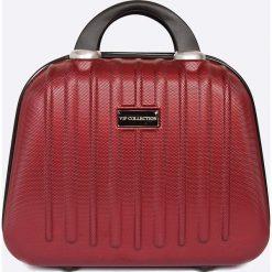 VIP COLLECTION - Walizka 16 L. Brązowe walizki marki VIP COLLECTION, z materiału, małe. W wyprzedaży za 119,90 zł.