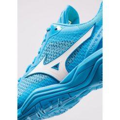 Mizuno WAVE V Obuwie do piłki ręcznej blue jewel/white/hawaiian ocean. Niebieskie buty do koszykówki męskie marki Mizuno, z gumy, mizuno wave. Za 589,00 zł.