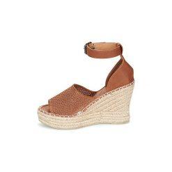 Sandały Superdry  ANNA WEDGE ESPADRILLE. Brązowe rzymianki damskie Superdry. Za 175,20 zł.