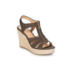 Sandały MICHAEL Michael Kors  BERKLEY. Czarne sandały damskie marki MICHAEL Michael Kors, z gumy, przed kolano, na wysokim obcasie. Za 549,00 zł.