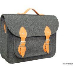 Torba na laptopa z pomarańczową skórą. Brązowe torby na ramię męskie marki Kazar, ze skóry, przez ramię, małe. Za 113,00 zł.