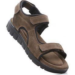 Sandały męskie: Sandały trekkingowe ze skóry bonprix brązowy