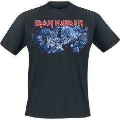 T-shirty męskie z nadrukiem: Iron Maiden Wasted years T-Shirt granatowy