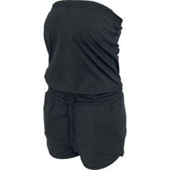 Urban Classics Ladies Hot Jumpsuit Kombinezon czarny. Szare kombinezony damskie marki Pepe Jeans, m, z jeansu, bez ramiączek. Za 54,90 zł.
