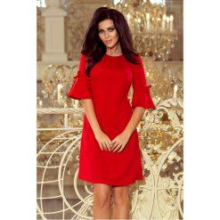 Trapezowa sukienka sf-217. Czerwone sukienki na komunię marki SaF, s, rozkloszowane. Za 129,00 zł.