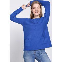 Swetry klasyczne damskie: Niebieski Sweter Hope