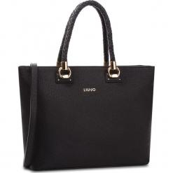Torebka LIU JO - L Tote Manhattan N68094 E0087 Nero 22222. Czarne torebki klasyczne damskie marki Liu Jo, z materiału. Za 689,00 zł.