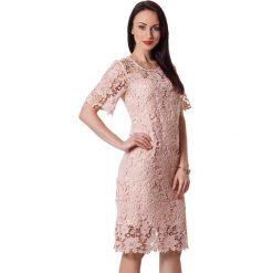 Sukienki hiszpanki: Sukienka w kolorze pudrowym