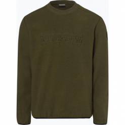 Napapijri - Męska bluza nierozpinana – Tame, zielony. Szare bluzy męskie marki Napapijri, l, z materiału, z kapturem. Za 499,95 zł.