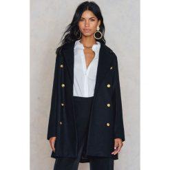 Rut&Circle Płaszcz zapinany na guziki Nor - Black. Czarne płaszcze damskie wełniane Rut&Circle, eleganckie. W wyprzedaży za 198,57 zł.