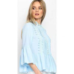Bluzki asymetryczne: Niebieska Bluzka Soft & Innocent