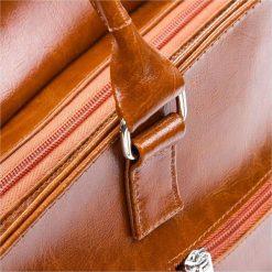 Skórzana damska Torebka Włoska koniakowa. Pomarańczowe torebki klasyczne damskie Paolo Peruzzi, ze skóry. Za 269,00 zł.