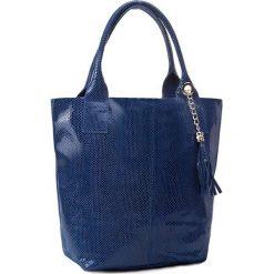 Torebka CREOLE - RBI10122 Granat. Niebieskie torebki klasyczne damskie Creole, z lakierowanej skóry, lakierowane. Za 189,00 zł.