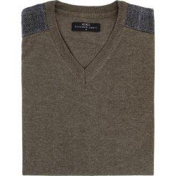Sweter FABRIZIO K 15-40SR. Brązowe swetry klasyczne męskie Giacomo Conti, m, z tkaniny. Za 149,00 zł.