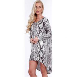 Szara sukienka w motywy zwierzęce oversize 1968. Szare sukienki Fasardi, l, oversize. Za 79,00 zł.