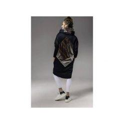 Plaszcz z elementami graficznymi. Czarne płaszcze damskie Skalny, z materiału. Za 599,00 zł.