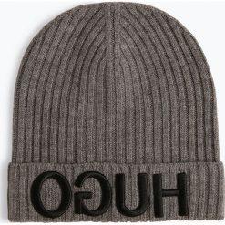HUGO - Wełniana czapka – Unisex-X537, szary. Szare czapki damskie HUGO, z wełny. Za 249,99 zł.