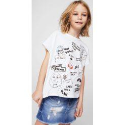 Mango Kids - Spódnica dziecięca sue 110-164 cm. Szare minispódniczki Mango Kids, z bawełny, proste. Za 69,90 zł.