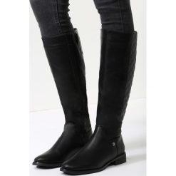 Czarne Kozaki Please Chose Me. Czarne buty zimowe damskie vices, na płaskiej podeszwie. Za 139,99 zł.