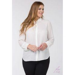 Bluzki asymetryczne: Bluzka koszulowa z ozdobnym kołnierzykiem Plus