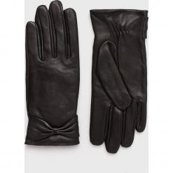 Pieces - Rękawiczki skórzane Kasle. Czerwone rękawiczki damskie Pieces, z materiału. W wyprzedaży za 129,90 zł.