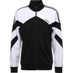 Adidas Originals PALMESTON Kurtka sportowa black/white. Szare kurtki sportowe męskie marki adidas Originals, l, z nadrukiem, z bawełny, z kapturem. Za 379,00 zł.