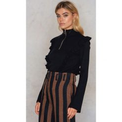 Swetry klasyczne damskie: Gestuz Sweter Mathilde – Black