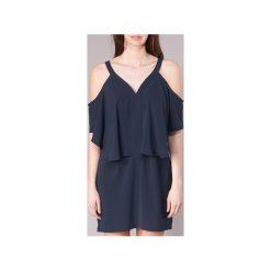 Sukienki krótkie See U Soon  8121097. Niebieskie sukienki mini marki See u Soon, s, z krótkim rękawem. Za 209,30 zł.