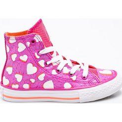 Converse - Trampki dziecięce. Szare buty sportowe dziewczęce marki Converse, z materiału. W wyprzedaży za 139,90 zł.