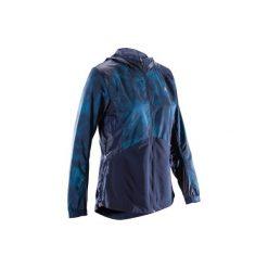 Bluza na zamek fitness kardio 520 damska. Niebieskie bluzy rozpinane damskie marki DOMYOS, z elastanu. W wyprzedaży za 59,99 zł.