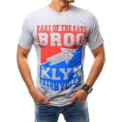 T-shirty męskie z nadrukiem: T-shirt męski z nadrukiem szary (rx2464)