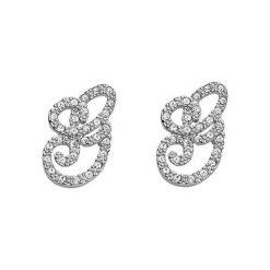 Biżuteria i zegarki: Kolczyki w kolorze srebrnym