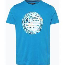 Tommy Hilfiger - T-shirt męski, niebieski. Niebieskie t-shirty męskie z nadrukiem TOMMY HILFIGER, m. Za 139,95 zł.