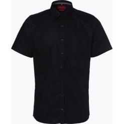 Finshley & Harding - Koszula męska łatwa w prasowaniu, czarny. Czarne koszule męskie non-iron marki Finshley & Harding, w kratkę. Za 89,95 zł.