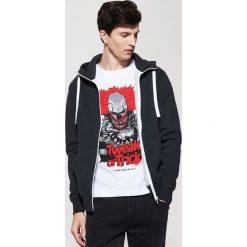 Bejsbolówki męskie: Dresowa bluza basic - Czarny