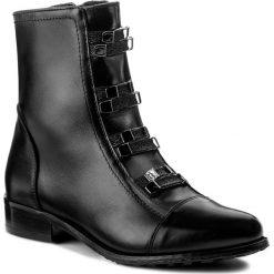 Botki EKSBUT - 67-4757-155-1G Czarny. Czarne buty zimowe damskie Eksbut, z materiału, na obcasie. W wyprzedaży za 269,00 zł.