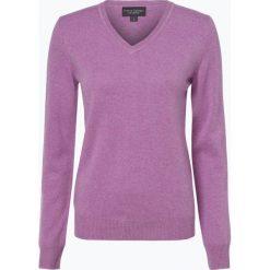 Franco Callegari - Sweter damski z czystego kaszmiru, lila. Zielone swetry klasyczne damskie marki Franco Callegari, z napisami. Za 499,95 zł.